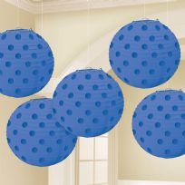 Royal Blue Paper Lanterns 12cm (5)
